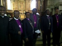With the Primate of all Nigerians and Nigerian Archbishops on visit to London